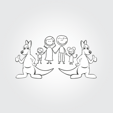 Happy Family Illustration Other  Draft # 25 by MycroDesigner001