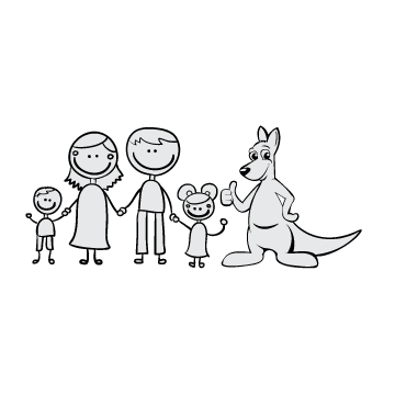 Happy Family Illustration Other  Draft # 26 by MycroDesigner001
