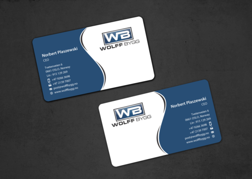 Buiness cards for wolff bygg as Business Cards and Stationery  Draft # 175 by einsanimation