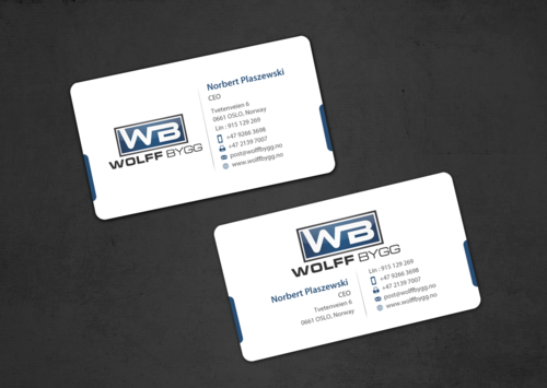 Buiness cards for wolff bygg as Business Cards and Stationery  Draft # 174 by einsanimation