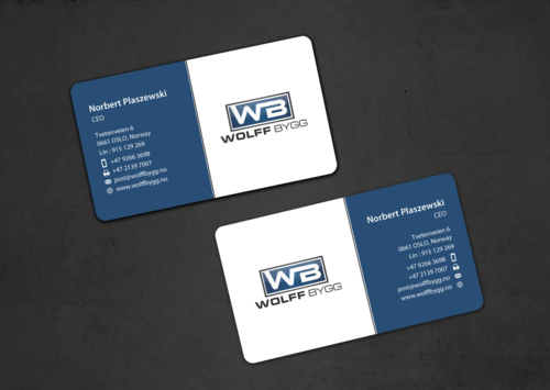 Buiness cards for wolff bygg as Business Cards and Stationery  Draft # 176 by einsanimation