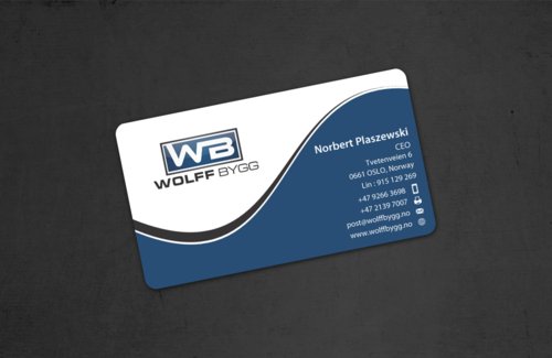 Buiness cards for wolff bygg as Business Cards and Stationery  Draft # 177 by einsanimation