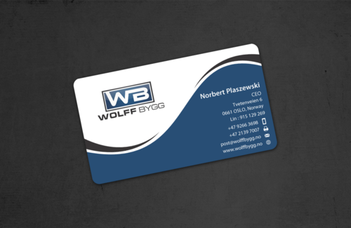 Buiness cards for wolff bygg as Business Cards and Stationery  Draft # 178 by einsanimation