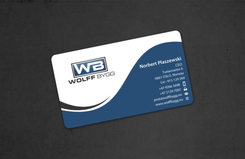 Buiness cards for wolff bygg as Business Cards and Stationery  Draft # 179 by einsanimation