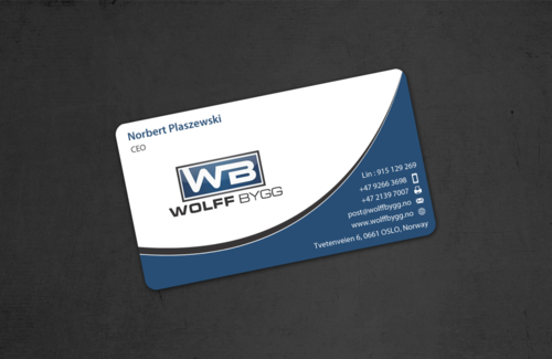Buiness cards for wolff bygg as Business Cards and Stationery  Draft # 181 by einsanimation