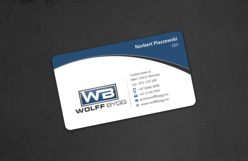 Buiness cards for wolff bygg as Business Cards and Stationery  Draft # 182 by einsanimation