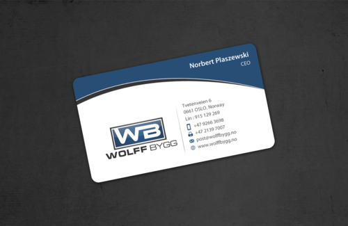 Buiness cards for wolff bygg as Business Cards and Stationery  Draft # 180 by einsanimation