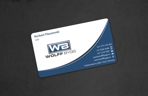 Buiness cards for wolff bygg as Business Cards and Stationery  Draft # 183 by einsanimation