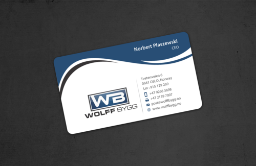 Buiness cards for wolff bygg as Business Cards and Stationery  Draft # 184 by einsanimation