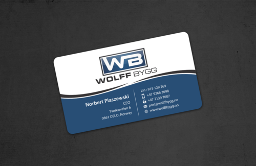 Buiness cards for wolff bygg as Business Cards and Stationery  Draft # 186 by einsanimation