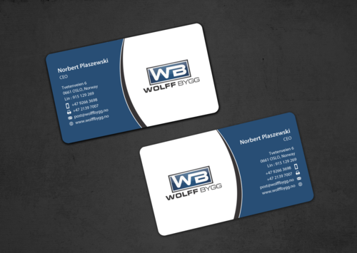 Buiness cards for wolff bygg as Business Cards and Stationery  Draft # 187 by einsanimation