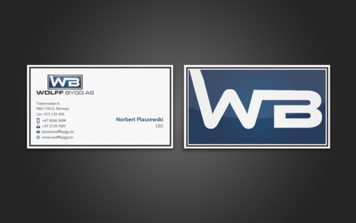 Buiness cards for wolff bygg as Business Cards and Stationery  Draft # 190 by einsanimation