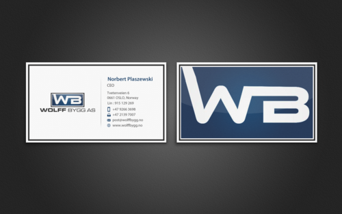 Buiness cards for wolff bygg as Business Cards and Stationery  Draft # 191 by einsanimation