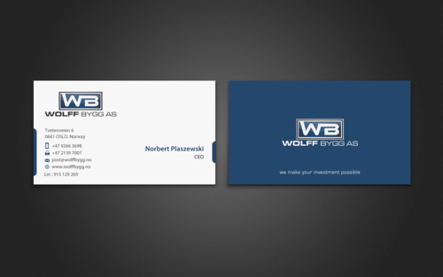 Buiness cards for wolff bygg as Business Cards and Stationery  Draft # 195 by einsanimation