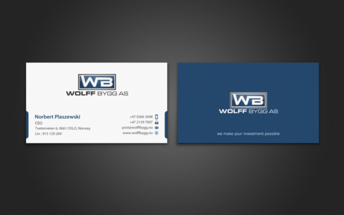 Buiness cards for wolff bygg as Business Cards and Stationery  Draft # 196 by einsanimation