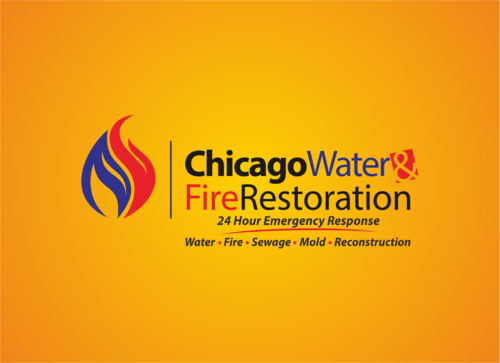 Chicago Water & Fire Restoration (two lines one on top of other separated at end of & symbol) A Logo, Monogram, or Icon  Draft # 323 by yudhiyudhiw