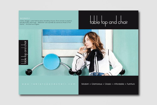 Table Top and Chair Marketing collateral  Draft # 7 by AzzmaxDesign