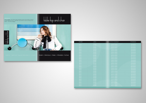 Table Top and Chair Marketing collateral  Draft # 9 by AzzmaxDesign