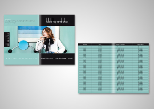 Table Top and Chair Marketing collateral  Draft # 10 by AzzmaxDesign