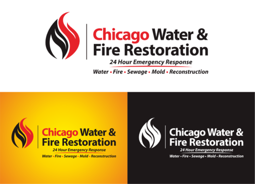 Chicago Water & Fire Restoration (two lines one on top of other separated at end of & symbol) A Logo, Monogram, or Icon  Draft # 421 by yudhiyudhiw