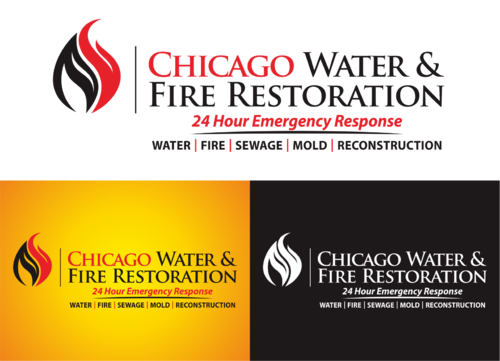 Chicago Water & Fire Restoration (two lines one on top of other separated at end of & symbol) A Logo, Monogram, or Icon  Draft # 424 by yudhiyudhiw