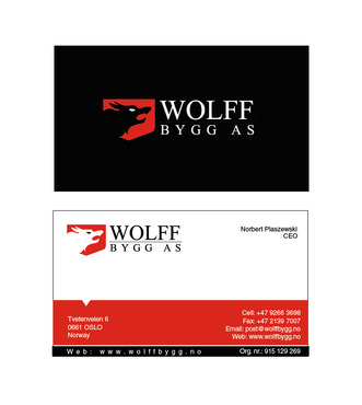 Buiness cards for wolff bygg as Business Cards and Stationery  Draft # 210 by bilalali
