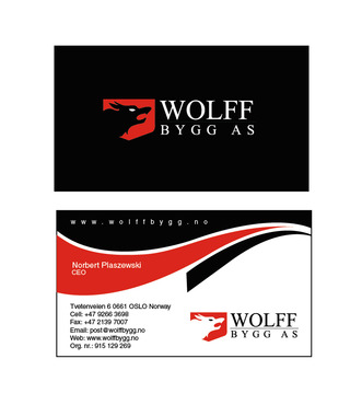 Buiness cards for wolff bygg as Business Cards and Stationery  Draft # 211 by bilalali
