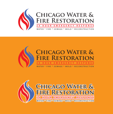 Chicago Water & Fire Restoration (two lines one on top of other separated at end of & symbol) A Logo, Monogram, or Icon  Draft # 482 by anijams