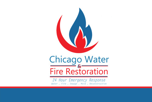 Chicago Water & Fire Restoration (two lines one on top of other separated at end of & symbol) A Logo, Monogram, or Icon  Draft # 669 by lagman2012