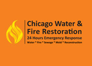 Chicago Water & Fire Restoration (two lines one on top of other separated at end of & symbol) A Logo, Monogram, or Icon  Draft # 673 by satyajitS2010
