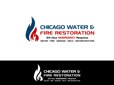 Chicago Water & Fire Restoration (two lines one on top of other separated at end of & symbol) A Logo, Monogram, or Icon  Draft # 675 by falconisty