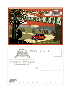 Greetings from The Great Smoky Mountains Marketing collateral Winning Design by mnorth