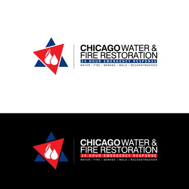 Chicago Water & Fire Restoration (two lines one on top of other separated at end of & symbol) A Logo, Monogram, or Icon  Draft # 676 by Abdul700