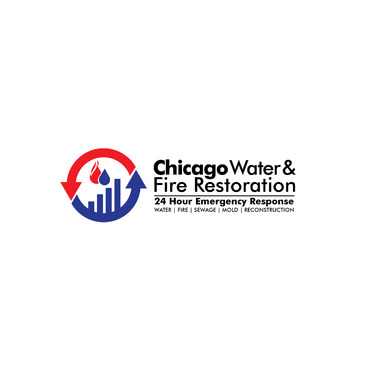Chicago Water & Fire Restoration (two lines one on top of other separated at end of & symbol) A Logo, Monogram, or Icon  Draft # 681 by Abdul700