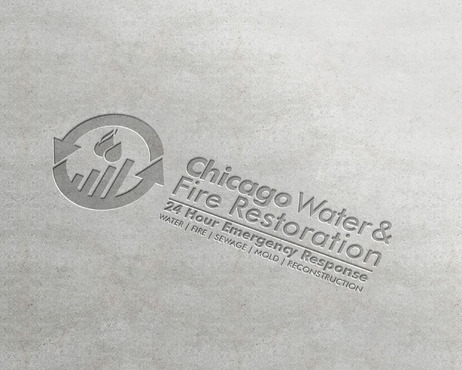 Chicago Water & Fire Restoration (two lines one on top of other separated at end of & symbol) A Logo, Monogram, or Icon  Draft # 684 by Abdul700