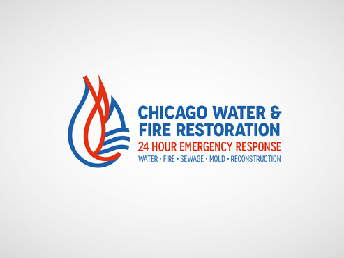Chicago Water & Fire Restoration (two lines one on top of other separated at end of & symbol) A Logo, Monogram, or Icon  Draft # 686 by Tonytet