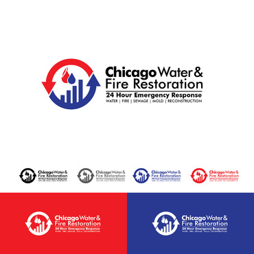 Chicago Water & Fire Restoration (two lines one on top of other separated at end of & symbol) A Logo, Monogram, or Icon  Draft # 687 by Abdul700