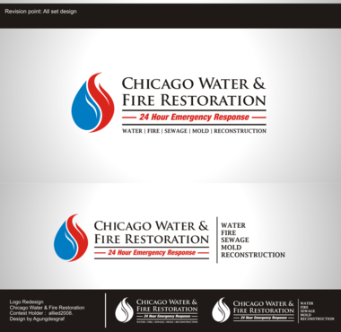 Chicago Water & Fire Restoration (two lines one on top of other separated at end of & symbol) A Logo, Monogram, or Icon  Draft # 688 by agungdesgraf