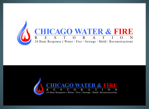 Chicago Water & Fire Restoration (two lines one on top of other separated at end of & symbol) A Logo, Monogram, or Icon  Draft # 693 by jonsmth620