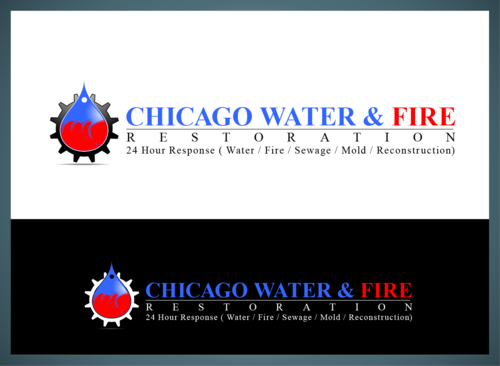 Chicago Water & Fire Restoration (two lines one on top of other separated at end of & symbol) A Logo, Monogram, or Icon  Draft # 694 by jonsmth620