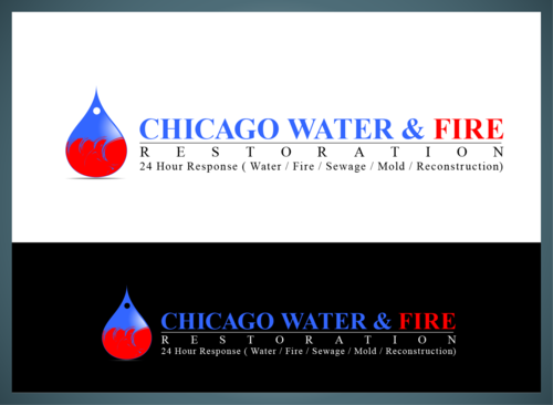 Chicago Water & Fire Restoration (two lines one on top of other separated at end of & symbol) A Logo, Monogram, or Icon  Draft # 695 by jonsmth620