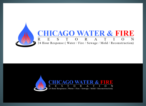 Chicago Water & Fire Restoration (two lines one on top of other separated at end of & symbol) A Logo, Monogram, or Icon  Draft # 696 by jonsmth620