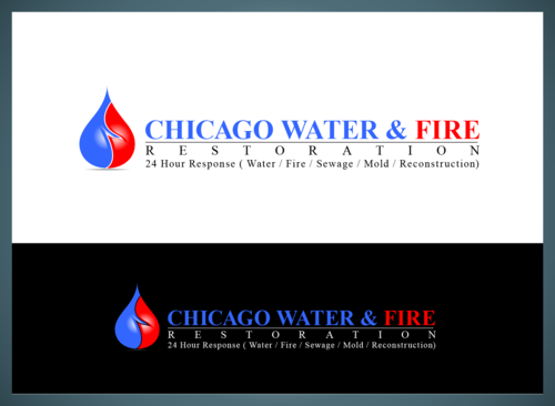 Chicago Water & Fire Restoration (two lines one on top of other separated at end of & symbol) A Logo, Monogram, or Icon  Draft # 697 by jonsmth620