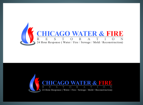 Chicago Water & Fire Restoration (two lines one on top of other separated at end of & symbol) A Logo, Monogram, or Icon  Draft # 698 by chachachaudhry