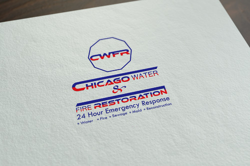 Chicago Water & Fire Restoration (two lines one on top of other separated at end of & symbol) A Logo, Monogram, or Icon  Draft # 701 by mazhar-baloch-90