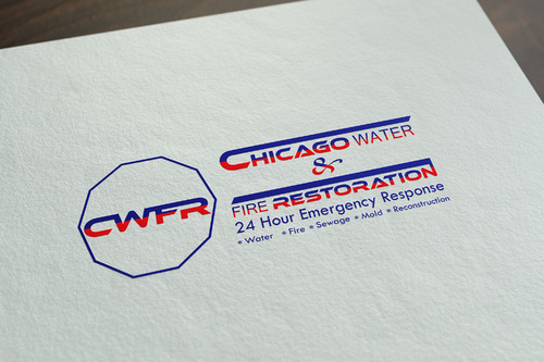Chicago Water & Fire Restoration (two lines one on top of other separated at end of & symbol) A Logo, Monogram, or Icon  Draft # 704 by mazhar-baloch-90