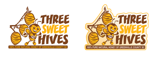 3 bee hives, a bee and or honey comb A Logo, Monogram, or Icon  Draft # 28 by mnorth