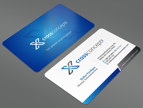 CrossConcept, Inc. Business Cards and Stationery  Draft # 12 by ArtworksKingdom