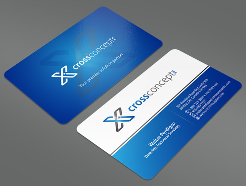CrossConcept, Inc. Business Cards and Stationery  Draft # 15 by ArtworksKingdom