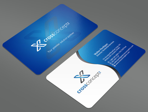 CrossConcept, Inc. Business Cards and Stationery  Draft # 17 by ArtworksKingdom